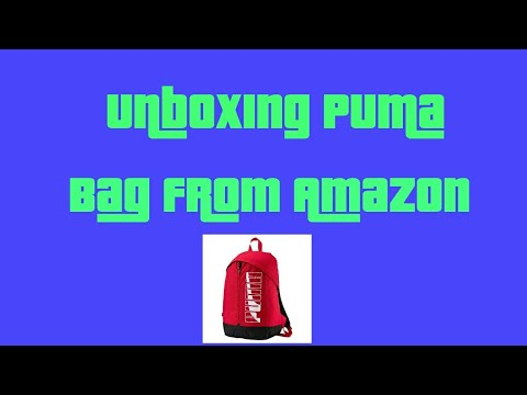 Unboxing Puma Bag from Amazon.in - YouTube d1ba1f92b5fea