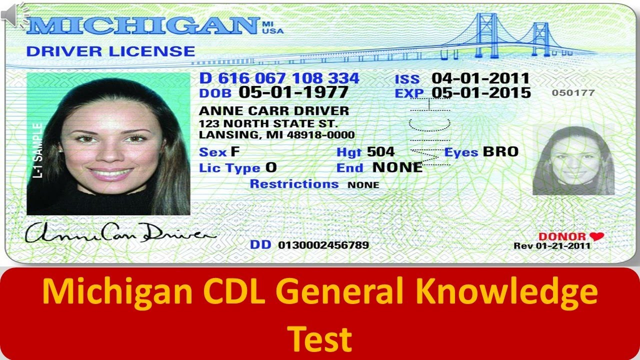 Michigan CDL General Knowledge Test