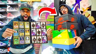 Trading My 2Hype Cards & Rare Pokemon Cards For New Sneakers!