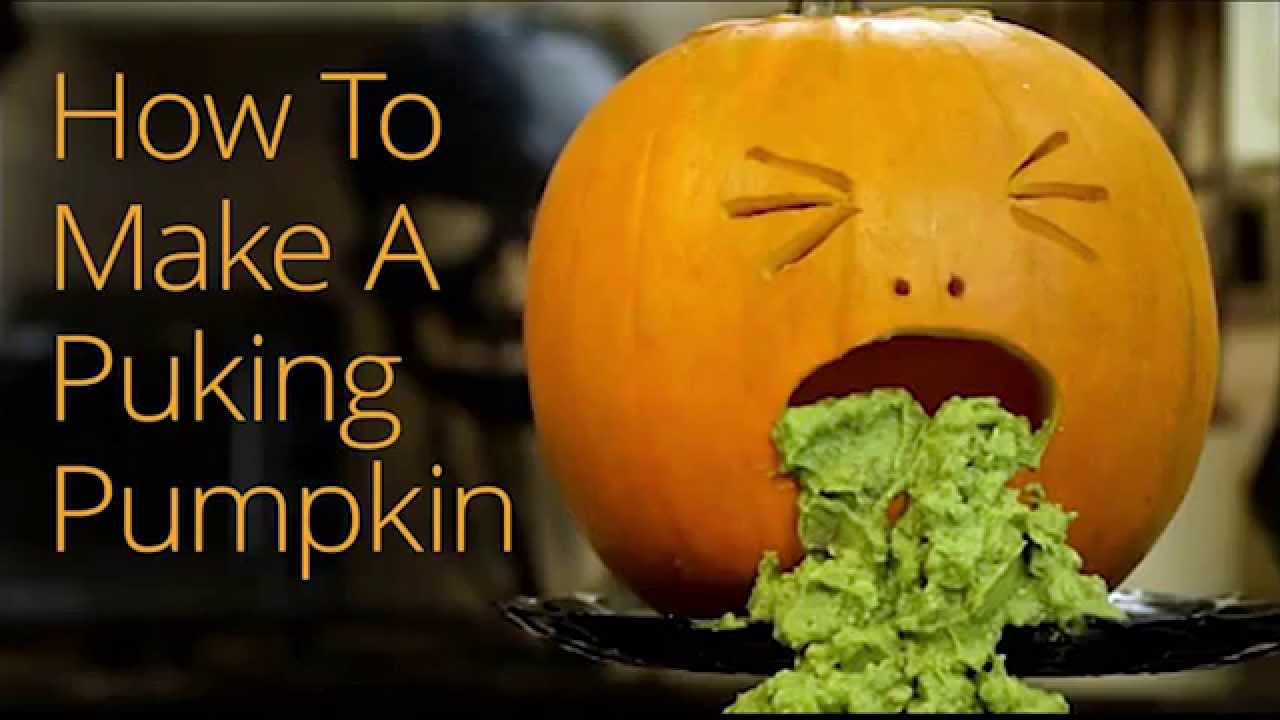 How to make a halloween puking pumpkin youtube