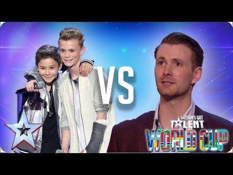 Bars & Melody vs Richard Jones  Britain's Got Talent World Cup 2018