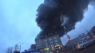 Смотреть видео Санкт-Петербург. Пожар в «Ленте» 10 ноября 2018 года. онлайн