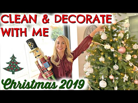 CLEAN & DECORATE WITH ME FOR CHRISTMAS 2019  |  NEW CLEAN & DECORATE