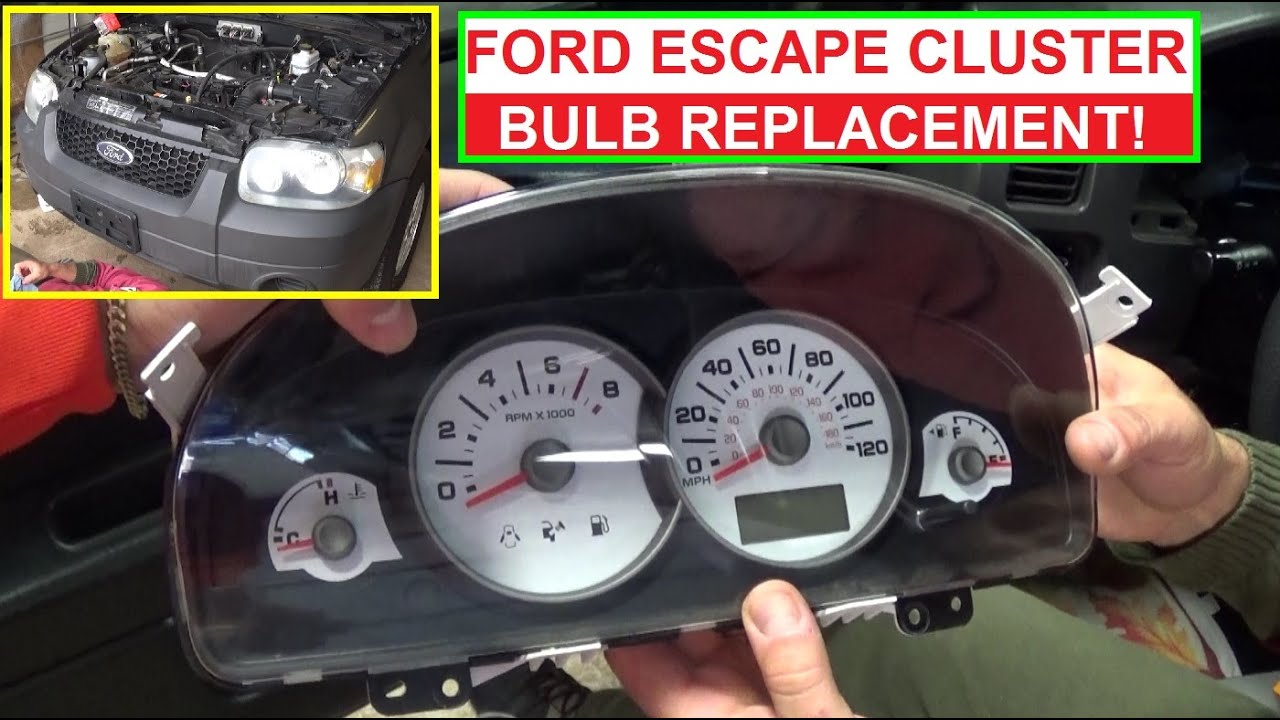 How To Replace Instrument Cluster Light Bulb On Ford Escape And 2011 F250 Speedometer Wiring Diagram Mercury Mariner