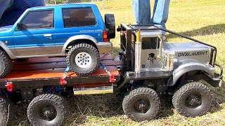 "Exhibition SLED PULL Competition - Trail Trucks & Traxxas BL ERevo? ""THE JUDGE"" 