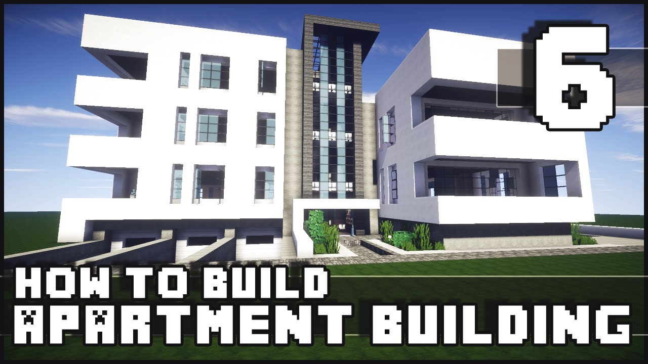 Minecraft how to build modern apartment building for Modern house 6 part 10