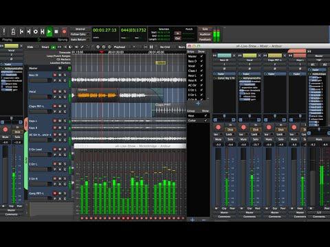 Recording with Ardour (Ubuntu Studio) - 90 Miles an Hour (cover)