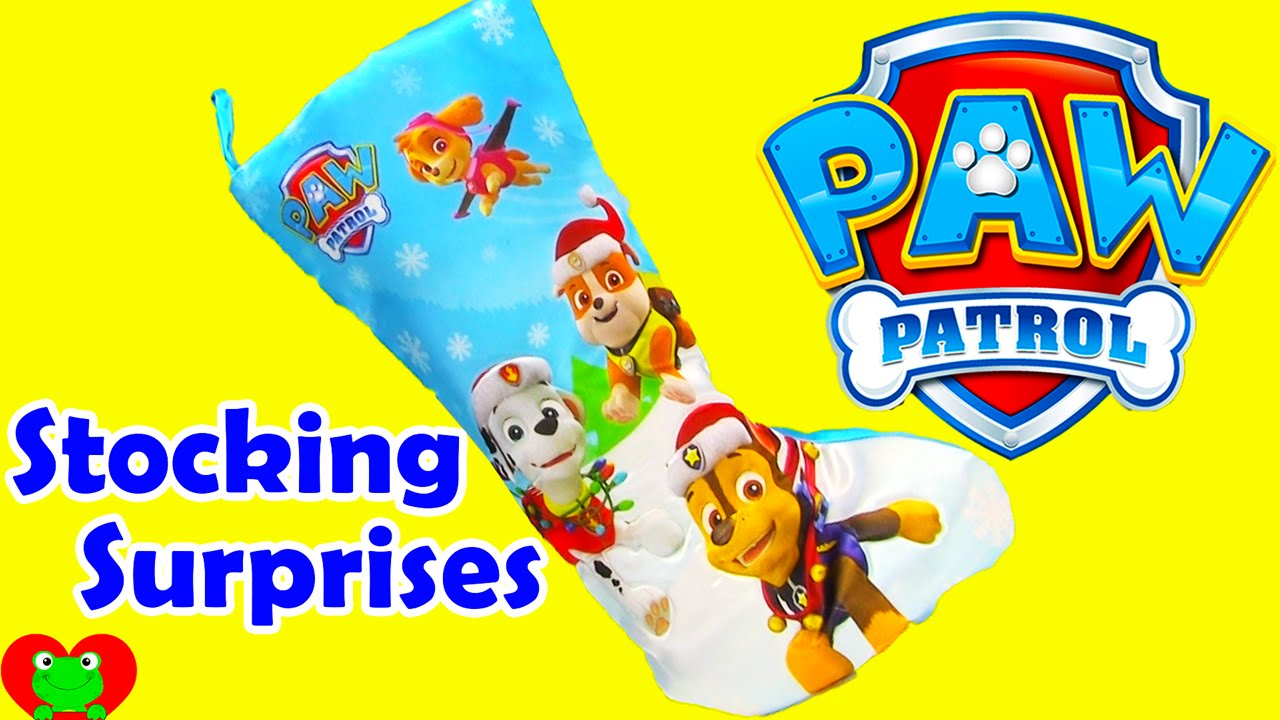 Paw Patrol Stocking Stuffer Surprises - YouTube