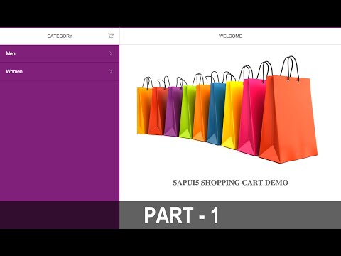 SAPUI5 - Shopping Cart Tutorial Part - 1