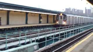 IRT Livonia Ave Line: R142A 4 Trains at Saratoga Ave-Livonia Ave (Weekend)