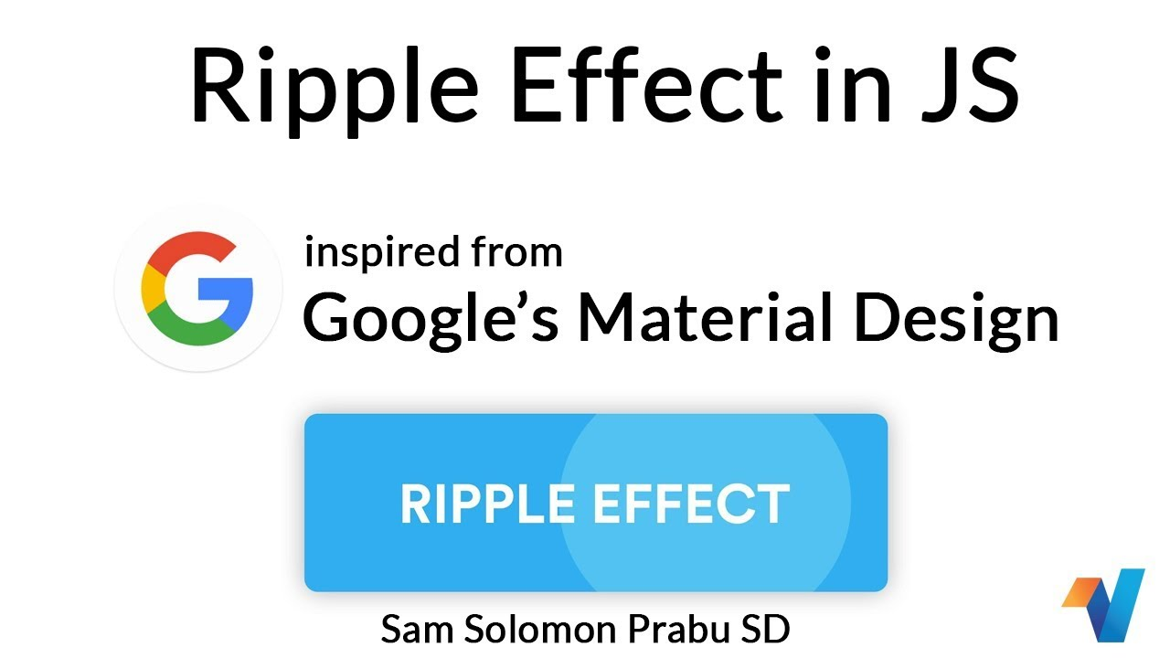 Google Ripple Effect in JS | JavaScript Tutorials | Web Development  Tutorials