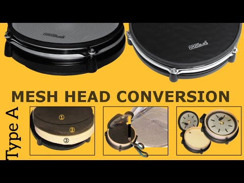 68ea7abfe785 Alesis mesh head conversion shallow pads (type A) - YouTube