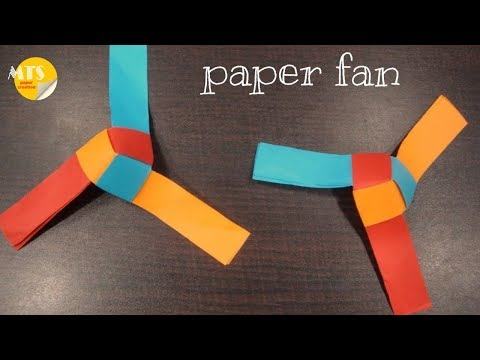 How to make rotating paper fan origami