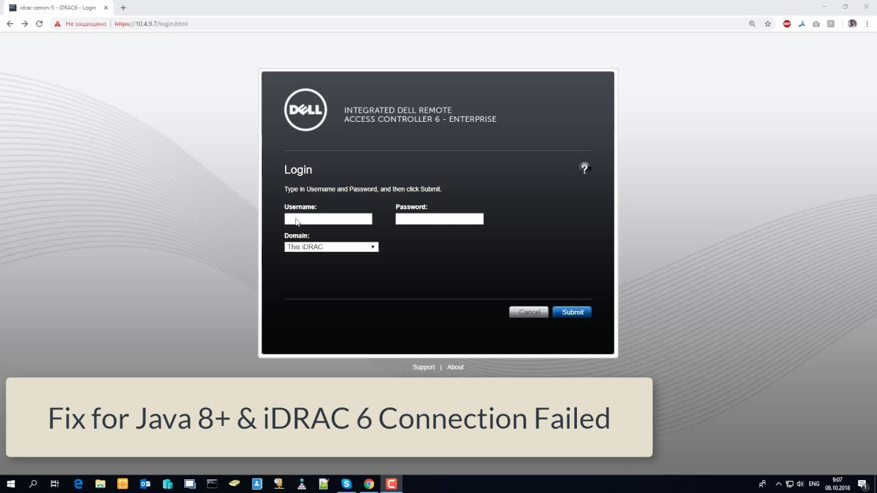 Dell idrac Connection Failed (Virtual Console) FIX