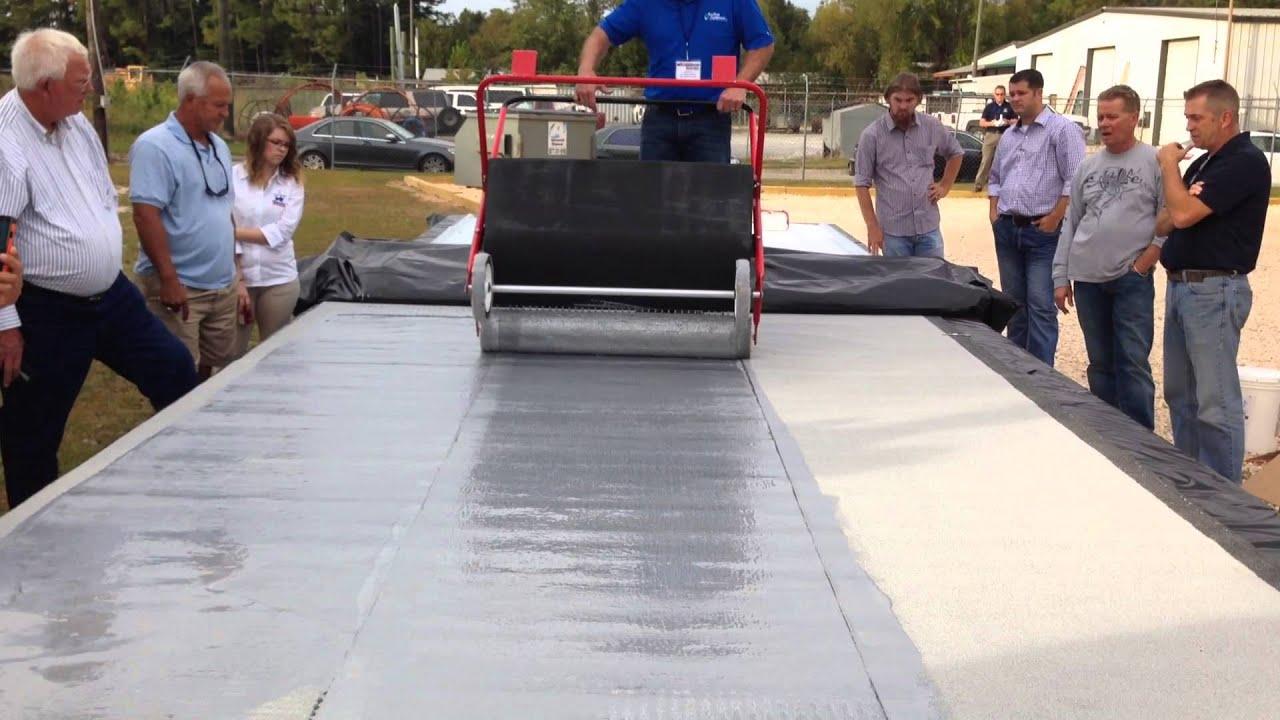 Fluid Applied Urethane Roof Coating Application Youtube