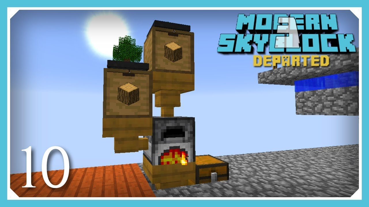Modern Skyblock 3 Departed Auto Cobble Bonsai Tree Wooden Spikes E10 Modern Skyblock 3 Gated Youtube