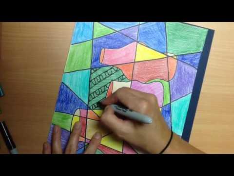 Cubism still life 2 (ages 6-9)