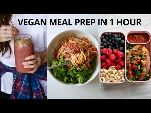 VEGAN MEAL PREP FOR THE WEEK (IN 1 HOUR)