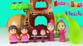 Maşa İkiz Kardeşi İle Şeker Makinesinden Dondurma Alıyor Heidi ve İkiz Kardeşi Çizgi Film