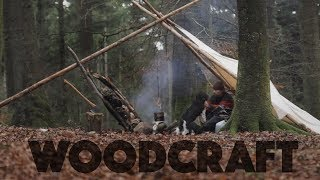Woodcraft Overnighter - Bushcraft Chair - Spoon Carving - Adjustable Pothanger - No Talk