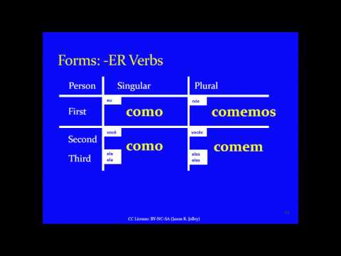 Jump Start Brazilian Portuguese -- Lesson 7 -- Present Tense Forms of Regular Verbs