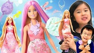 髪の色がかわるプリンセスバービーで遊びました。 Played with Barbie D...