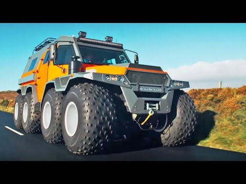 The HUGE Avtoros Shaman 8x8 | Top Gear Series 24 | BBC