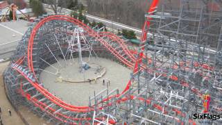 wicked cyclone first test run six flags new england off ride hd rocky mountain roller coaster rmc