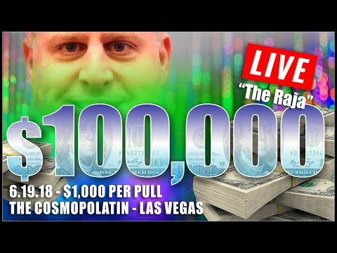 ✦►BIGGEST HIGH LIMIT SLOT PLAY on YOUTUBE◄✦ $100,000 at $1000 Spin ✦FILMED LIVE at the Cosmo!!!✦