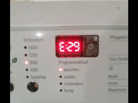 how to identify an error code on a bosch washing machine. Black Bedroom Furniture Sets. Home Design Ideas