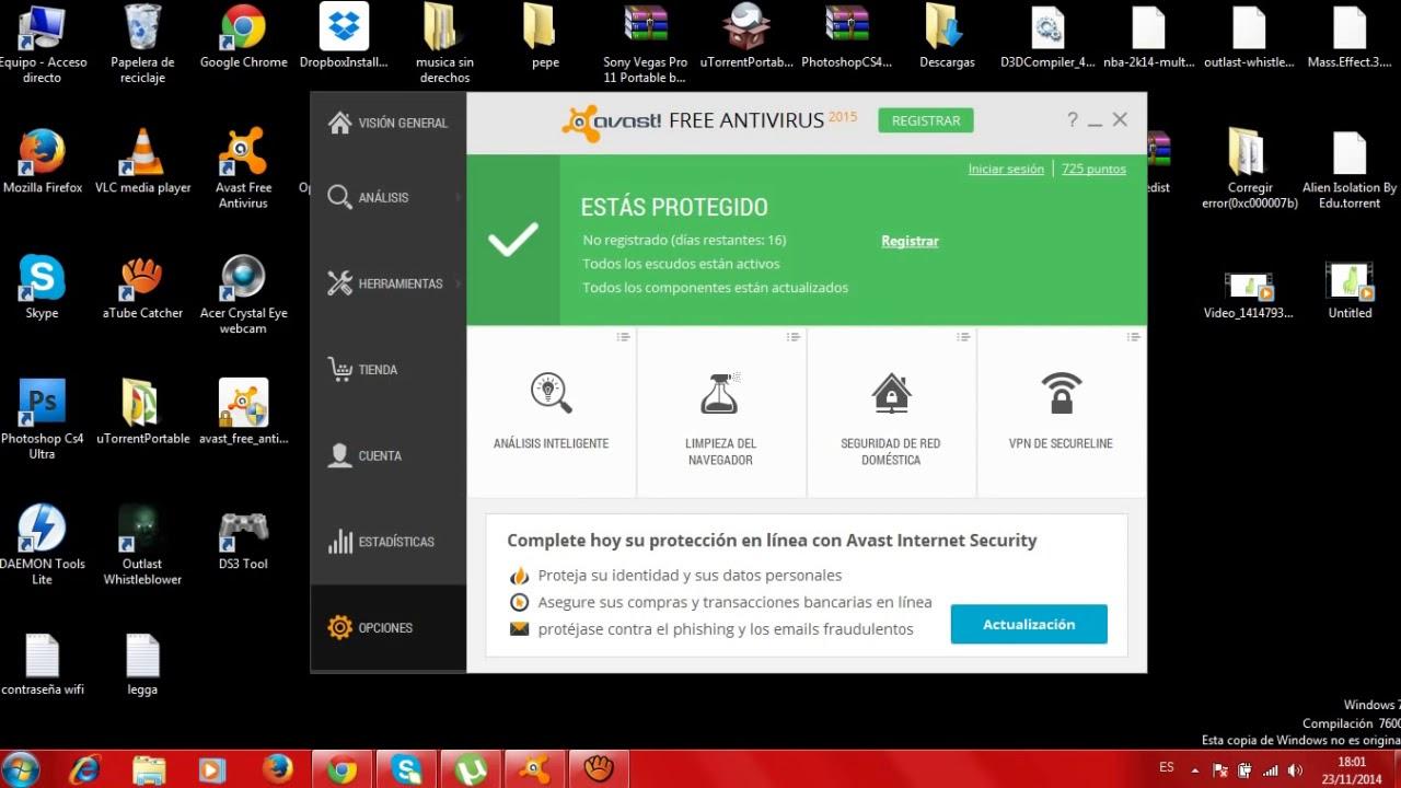 como desactivar el avast free antivirus temporalmente
