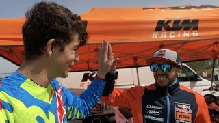 CAIROLI TEACHES ME TO USE THE KTM 125!