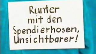 Die Ärzte TV-Werbespot für Runter mit den Spendierhosen - Unsichtbarer!