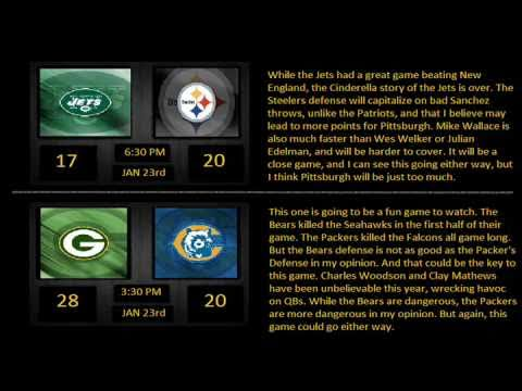 NFL 2010-11 Playoff Predictions - Championship Round