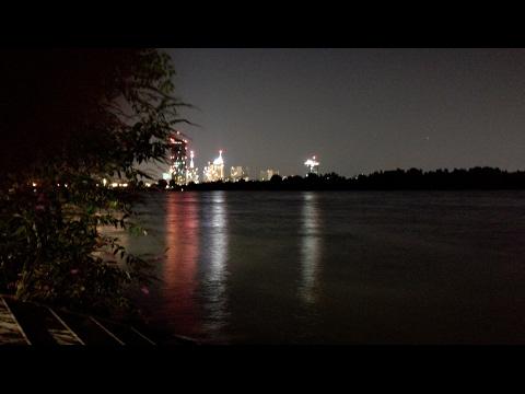 Huawei P9 lite - Smartphone camera video test Night / low light - viena danube waterfront