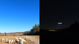 Did this time lapse just capture footage of a UFO?