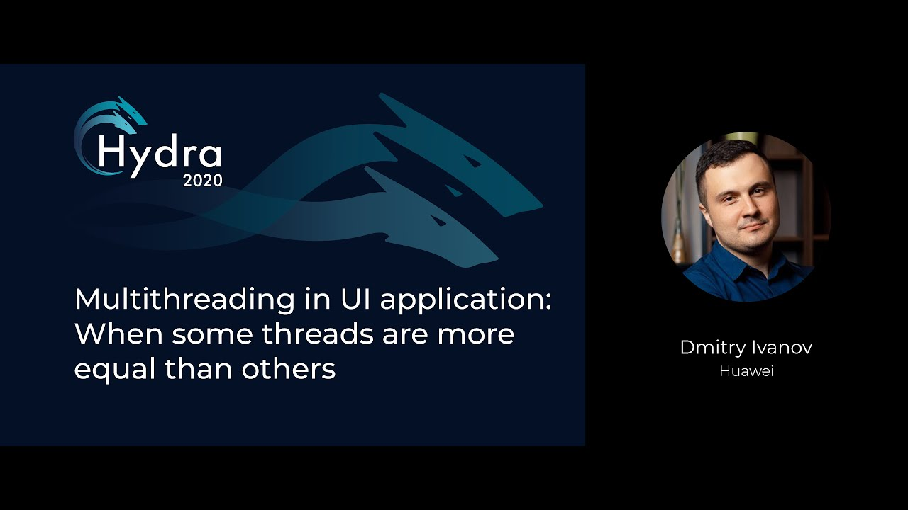 Multithreading in UI Application: When some Threads are more Equal than Others