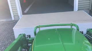 John Deere 1025r: Trying to lift 30 sheets of drywall