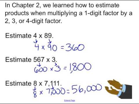 Mrs. Jacobs GOMath! Grade 4: Lesson 3.2 - Estimate Products (4.NBT ...