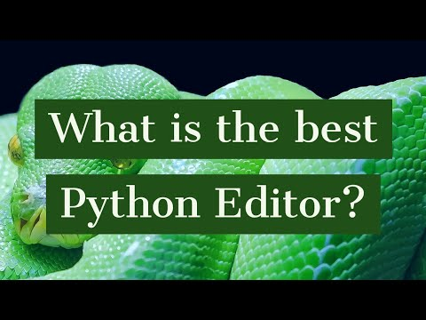 What is the best Python Editor