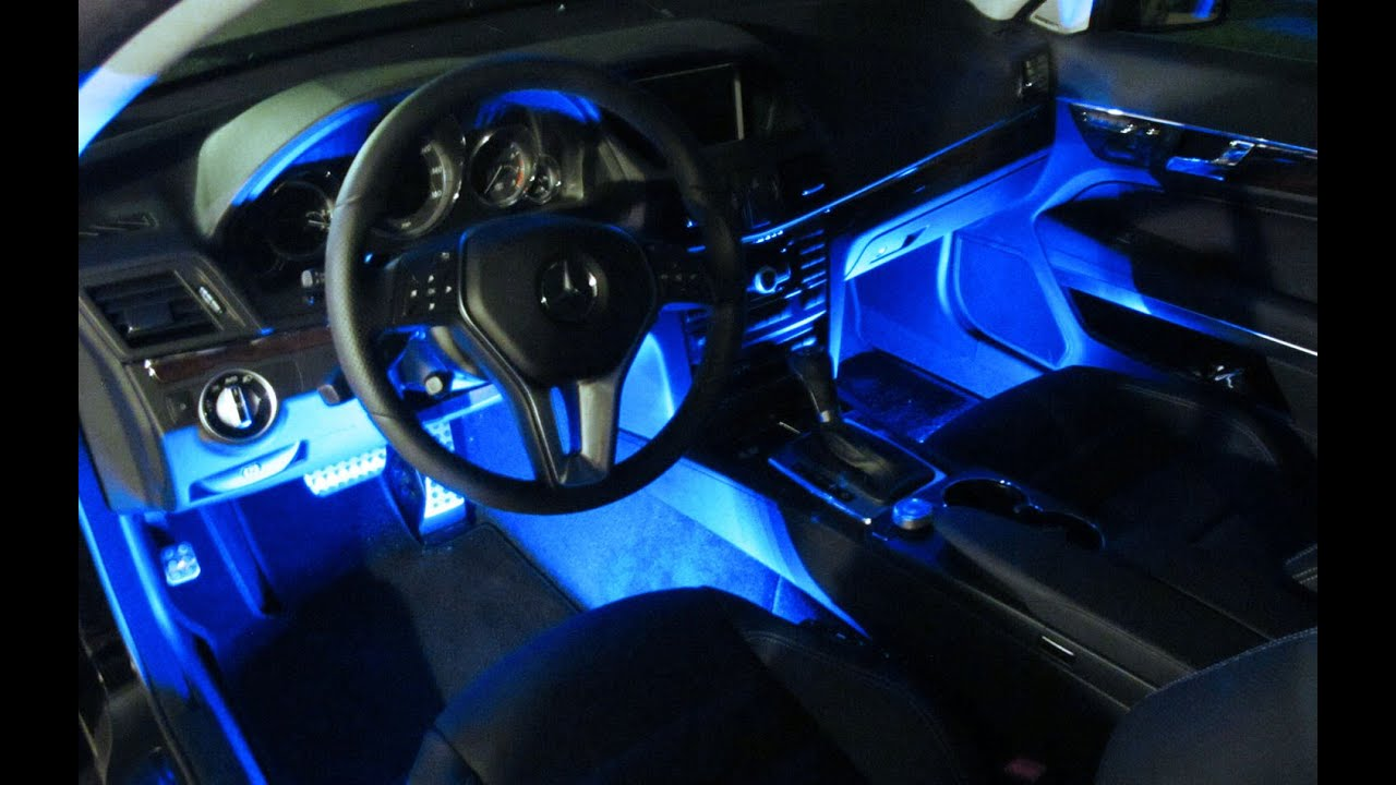 Ijdmtoy led interior lighting with wireless remote youtube for Interior accent lights for cars