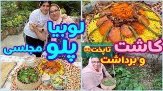 طرز تهیه لوبیا پلو مجلسی ، غذای خوشمزه ایرانی ، آموزش آشپزی حرفه ای screenshot 3
