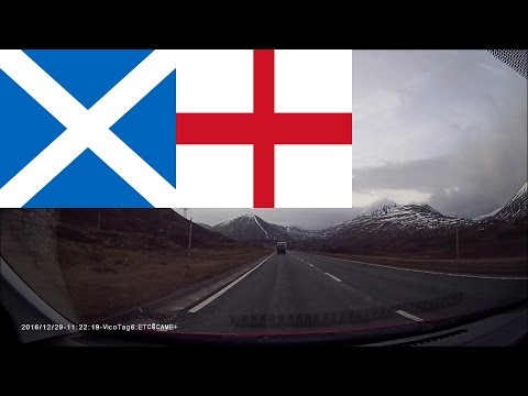 Timelapse driving in Scotland & England - Inverness to Cambridge