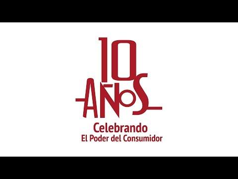 10 años celebrando  a El Poder del Consumidor