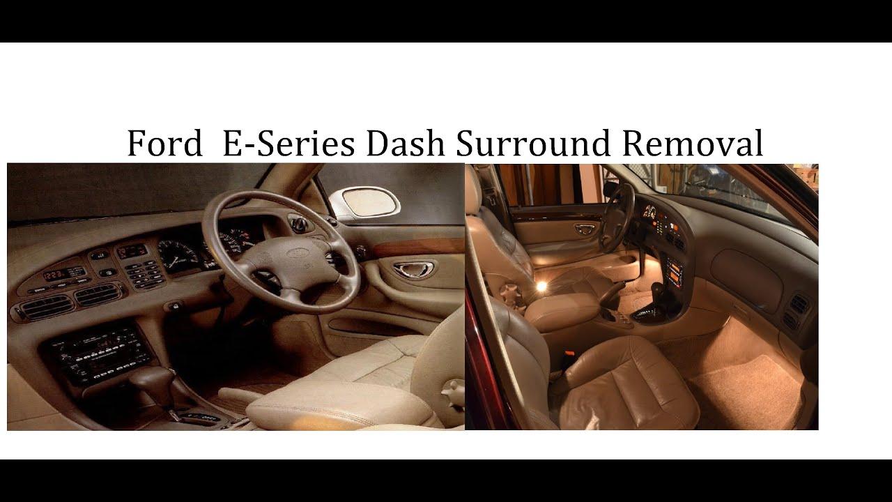 Removing A Ford Ef El Dash Surround Falcon Fairmont Fairlane Youtube Wiring Diagram