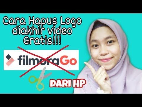 Cara Menghilangkan Tulisan Logo Filmorago Gratis Dari HP