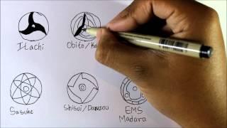 Drawing All Mangekyo Sharingan In Naruto Shippuden