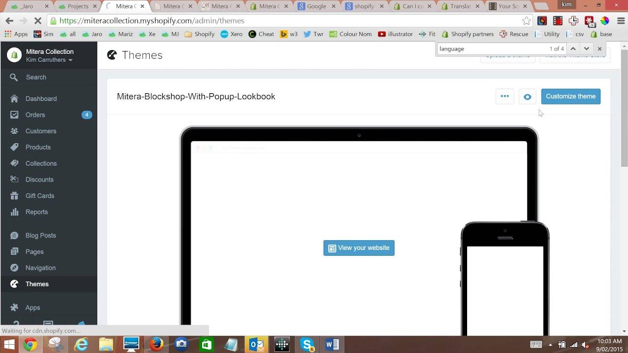 Shopify Translating Checkout With Language Settings Shopify - Shopify template language