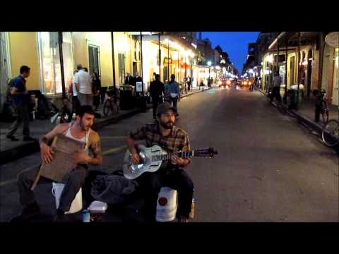 Sluetown Strutters play LIVE in the French Quarter, 02-21-2015