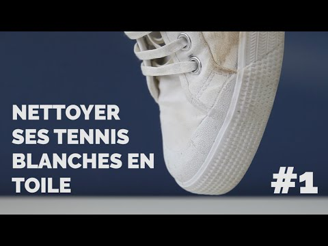 e8bc68b154640 Nettoyer ses tennis blanches en toile - Episode 1 - YouTube